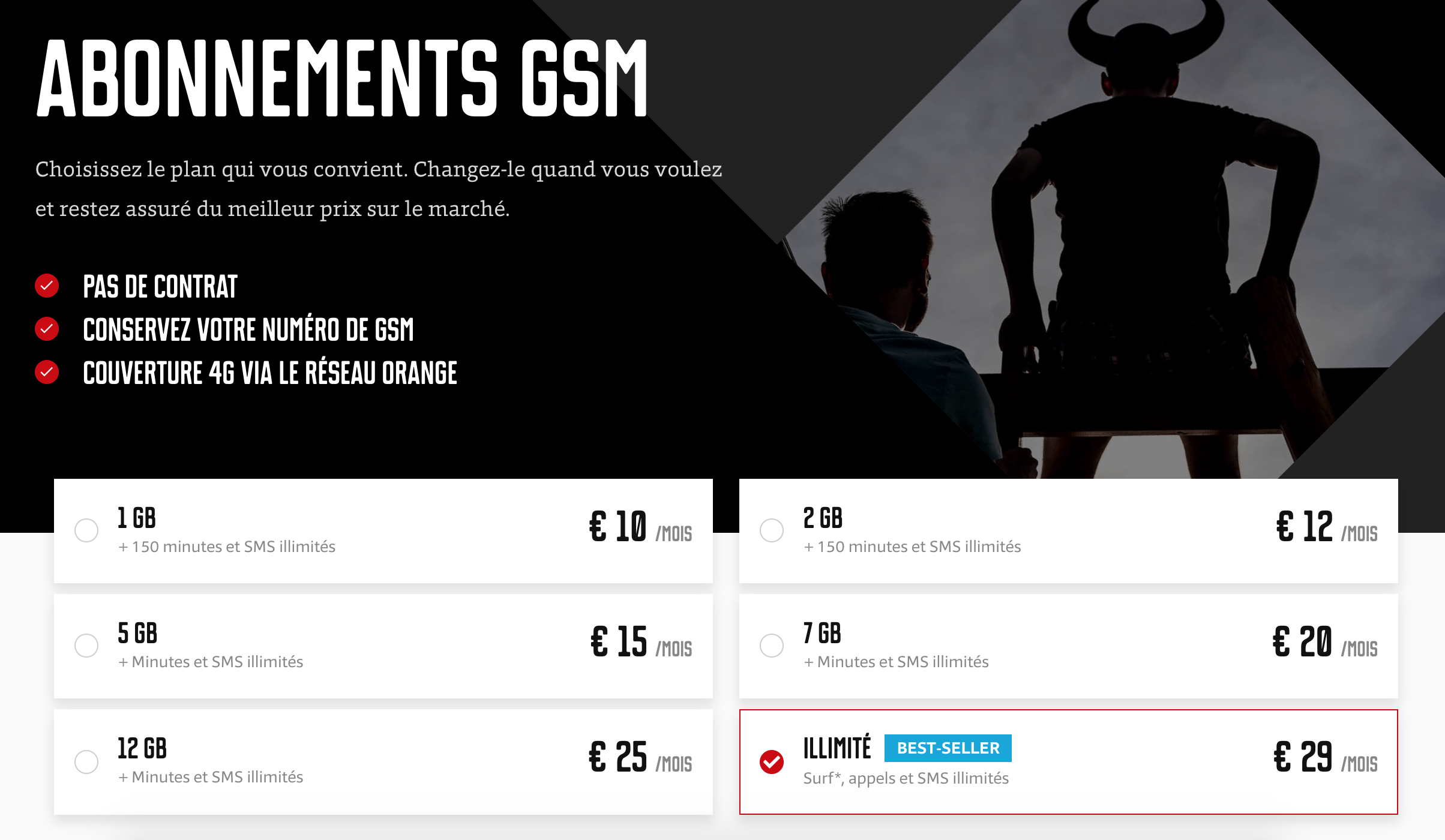 abonnement gsm mobile